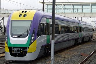 V/Line VLocity - VL41 in the modified version of the original livery with yellow front in March 2008