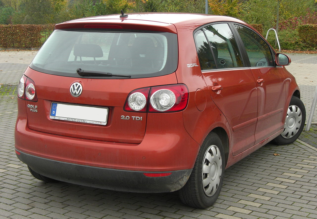 file vw golf plus 2 0 tdi goal rear mj jpg wikimedia. Black Bedroom Furniture Sets. Home Design Ideas