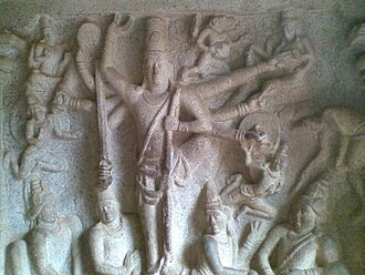 Cave Temples of Mahabalipuram - Bas-relief inside the Varaha Cave