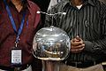 Van de Graaff Generator Experimentation - Indo-Finnish-Thai Exhibit Development Workshop - NCSM - Kolkata 2014-11-27 9746.JPG