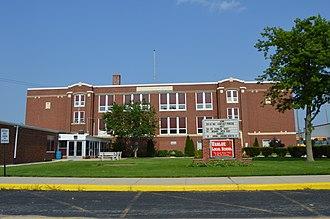 Vanlue, Ohio - High school on State Route 330