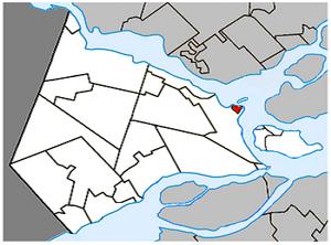 Vaudreuil-sur-le-Lac, Quebec - Image: Vaudreuil sur le Lac Quebec location diagram