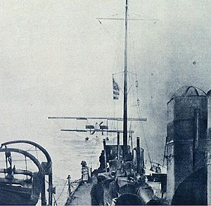 Michael Moutoussis - The Farman MF.7 of Moutoussis and Moraitinis collected by Velos after their Dardanelles mission.