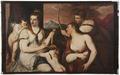 Venus sätter bindel för Amors ögon (Andrea Schiavone) - Nationalmuseum - 157950.tif