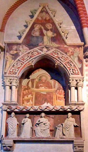 Thomas Gallus - Tomb of Thomas Gallus in the Basilica of Sant'Andrea at Vercelli.