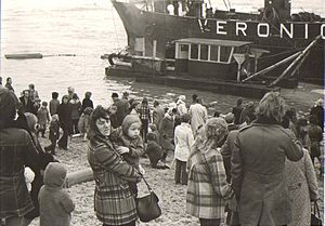 "Radio Veronica - Veronica ship ""The Norderney"", Scheveningen, 7 April 1973"