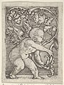 Vertical Panel with Cupid Holding the End of a Plant Sprouting Tendrils MET DP834288.jpg
