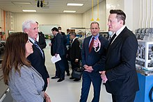 Musk converses with US Vice President Mike Pence, the Second Lady, and other officials