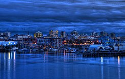 Victoria, British Columbia Skyline at Twilight.jpg