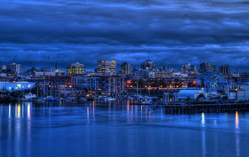 File:Victoria, British Columbia Skyline at Twilight.jpg