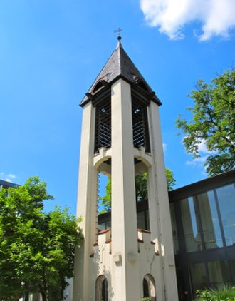 Church of Sweden Abroad - Belltower at the SKUT church in Berlin, Germany.