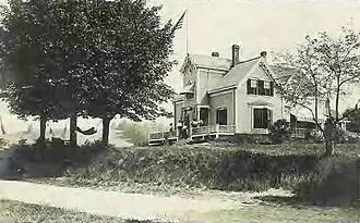 Newton, New Hampshire - A Victorian building in 1910
