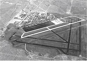 George Air Force Base - Oblique aerial photo of Victorville Army Air Field, looking southeast - August 1943.