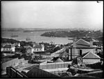 View down Kurraba & Thrupp Streets, Cremorne across Sydney Harbour to the city (3639533107).jpg