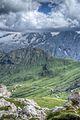View from Forcella Pordoi - Sass Pordoi, Canazei, Trento, Italy - August 12, 2013.jpg