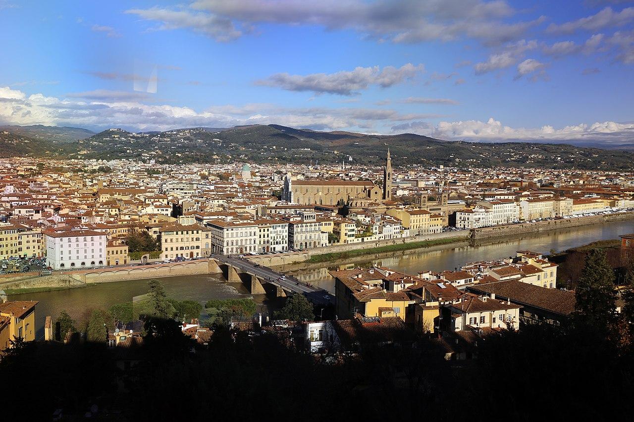 Firenze, Villa Bardini, veduta su Santa Croce