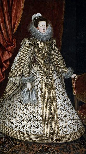 Elisabeth of France (1602–1644) - Image: Villandrando Isabel de Borbón Lienzo. 201 x 115 cm. Museo del Prado