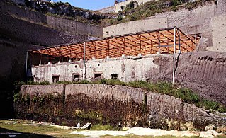 building in Ercolano, Italy