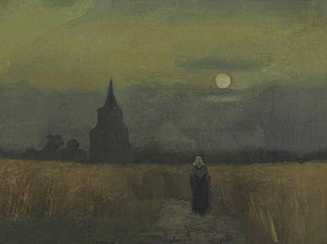 Old Church Tower at Nuenen - Image: Vincent van Gogh The Old Tower at Dusk F40 JH507