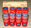 Vintage Eveready Transistor Radio Batteries, No. 1015, 1.5 Volts (9738608864).jpg