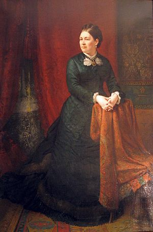 Virginia Kyle Campbell - Portrait painted posthumously circa 1885