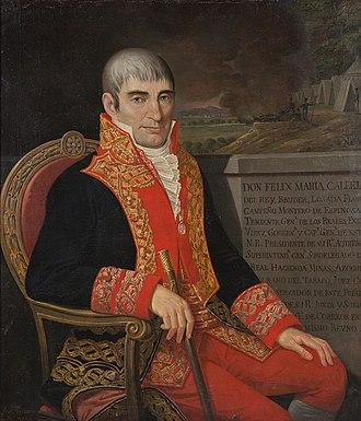 Royalist (Spanish American independence) - Image: Virrey Félix María Calleja