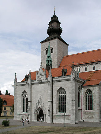 Visby Cathedral - View of the cathedral from the south