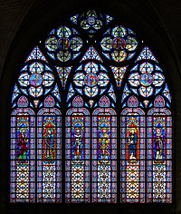 West Window From Saint Urbain Troyes About 1900