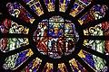 Vitrail d'une rosace de l'église Saint-Gérand (Le Palais) par les ateliers Mauméjean.jpg
