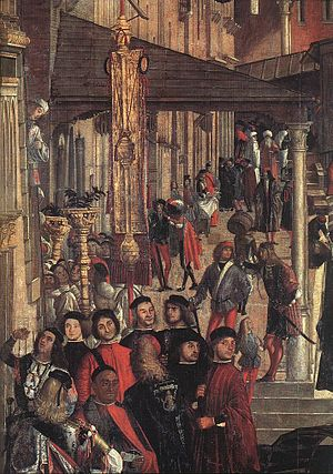 Miracle of the Relic of the Cross at the Ponte di Rialto - Detail.