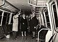 Vizita de lucru a lui Nicolae Ceaușescu, a altor conducători de partid și de stat, în municipiul Arad. Se examinează prototipul vagonului de metrou. (11 ianuarie 1977).jpg