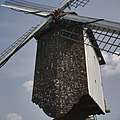 Vooraanzicht van de molenkast, molen is in 1955 overgebracht naar het Openluchtmuseum te Bokrijk, Genk - Bokrijk - 20361103 - RCE.jpg