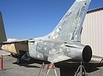 Vought F-8 Aft Port view of F-8 tail & main gear (4255911086).jpg