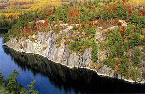 A landscape typical of the Boundary Waters reg...