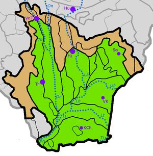 Eastern Slovak Lowland - Image: Vychodoslovenska nizina subdivisions