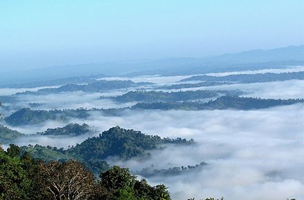 Mountain trekking is a popular activity in the Bandarban District WALK IN THE CLOUDS.JPG