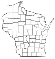 Location of Lannon, Wisconsin