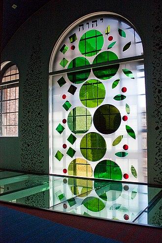 Tree of life (Kabbalah) - Image: WLANL Michele Loves Art Joods Historisch Museum Levensboom glas in lood Eli Content (Midden)