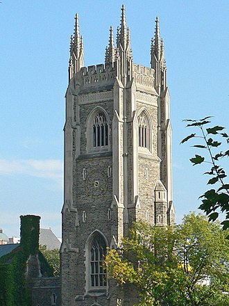 University of Toronto - Soldiers' Tower, a memorial to alumni fallen in the World Wars, contains a 51-bell carillon.