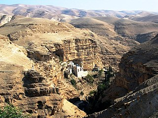 Wadi Qelt river in Palestinian territories