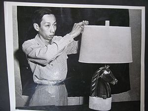 Wah Chang - Image: Wah Chang with Lamp Sculpture