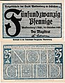Waldenburg i.Schl. - 25Pf. 1920 blau.jpg