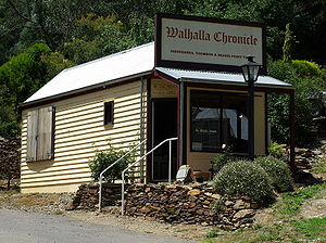 Walhalla, Victoria - A reconstruction of a former shop, which now houses a small museum highlighting the Walhalla Chronicle newspaper