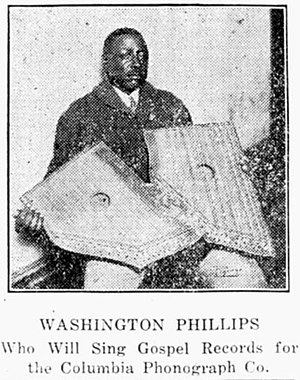 Celestaphone (instrument) - Image: Washington Phillips