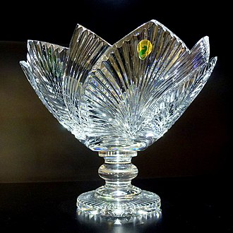 Waterford Crystal - Engraved crystal vase