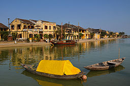 Waterfront of Hoi An on the Thu Bon River