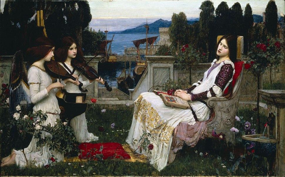 Waterhouse, John William - Saint Cecilia - 1895
