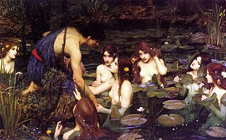 Hylas - Hylas and the Nymphs (1896) by John William Waterhouse