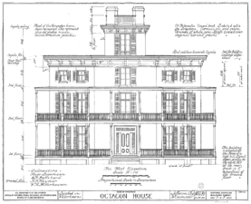 Px Watertown Octagon House Elevation