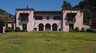 Wattles Mansion - The Wattles Mansion from the south